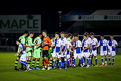 Teams line up - Rogan/JMP - 02/11/2017 - FOOTBALL - Memorial Stadium - Bristol, England - Bristol Rovers U18 v Forest Green Rovers U18 - FA Youth Cup 1st Round.