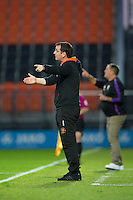 Blackpool manager Gary Bowyer shouts instructions to his team from the dug-out<br /> <br /> Photographer Craig Mercer/CameraSport<br /> <br /> Football - The EFL Sky Bet League Two - Barnet v Blackpool - Tuesday 16th August 2016 - The Hive Stadium - London<br /> <br /> World Copyright © 2016 CameraSport. All rights reserved. 43 Linden Ave. Countesthorpe. Leicester. England. LE8 5PG - Tel: +44 (0) 116 277 4147 - admin@camerasport.com - www.camerasport.com