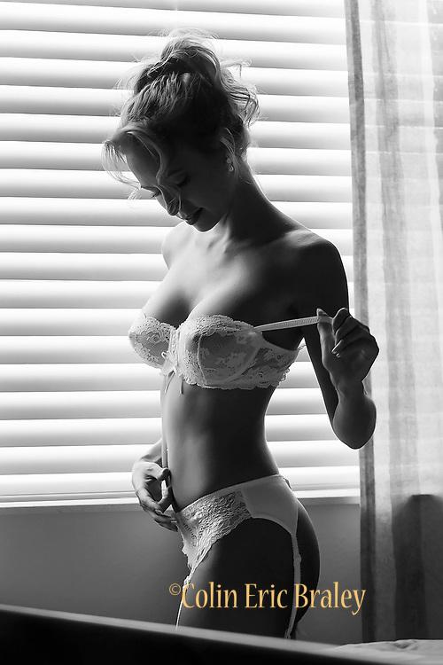 Creative, boudoir, glamour, lingerie, swimsuit model portfolio photography by Colin E. Braley