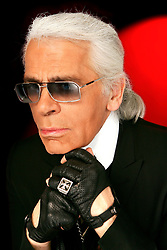 Karl Lagerfeld poses in Paris, France, in March 2006. Photo by VIM/ABACAPRESS.COM
