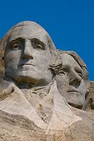 Face of President George Washington, Mount Rushmore National Memorial, Black Hills, South Dakota USA