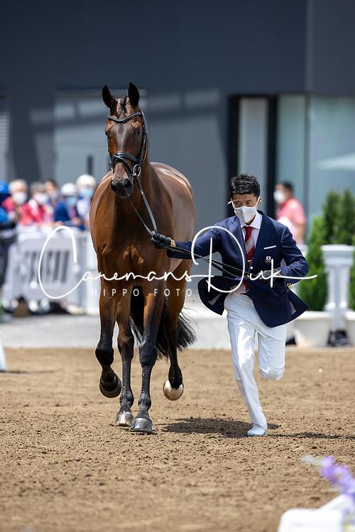 Hayashi Shingo, JPN, Scolari 4, 143<br /> Olympic Games Tokyo 2021<br /> © Hippo Foto - Dirk Caremans<br /> 23/07/2021