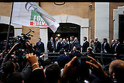 Silvio Berlusconi arriva alla Camera dei Deputati per incontrare i gruppi parlamentari.  Roma 23 ottobre 2014.  Christian Mantuano / OneShot <br /> <br /> Silvio Berlusconi arrives at the Italian Chamber of Deputies to meet parliamentary groups. Rome October 23, 2014. Christian Mantuano / OneShot