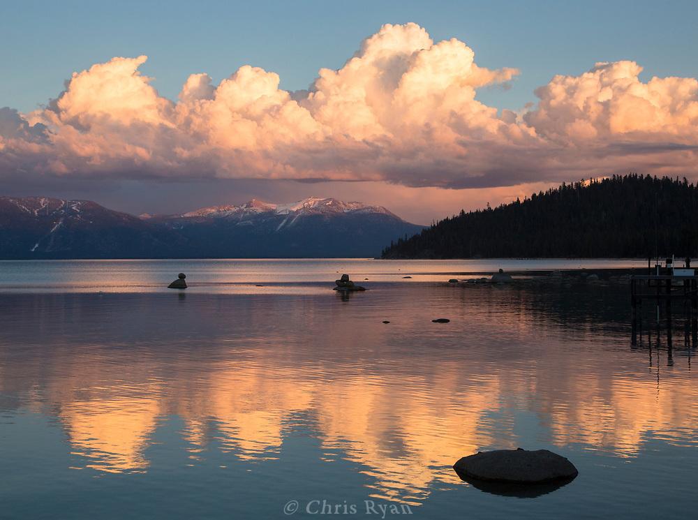 Sunset over Lake Tahoe, California