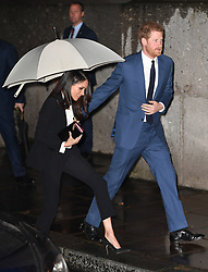 Prince Harry and Meghan Markle attend the annual Endeavour Fund Awards at Goldsmiths Hall, London, UK, on the 1st February 2018. 02 Feb 2018 Pictured: Meghan Markle, Prince Harry. Photo credit: James Whatling / MEGA TheMegaAgency.com +1 888 505 6342