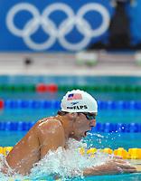 Michael Phelps Usa Nuoto 400 misti<br /> Swimming 400m Individual Medley<br /> Pechino - Beijing 9/8/2008 Olimpiadi 2008 Olympic Games<br /> National Acquatic Centre <br /> Foto Andrea Staccioli Insidefoto