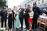"""London, United Kingdom. June 3rd 2012..Queen Elizabeth II Diamond Jubilee 1952-2012.At  the """"Big Lunch"""" on Piccadilly"""