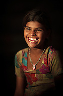 Young girl who was selling chai with her family at the Pushkar Camel Fair, Rajasthan, India
