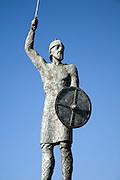 Statue of Saxon leader Brythnoth, Maldon, Essex, England