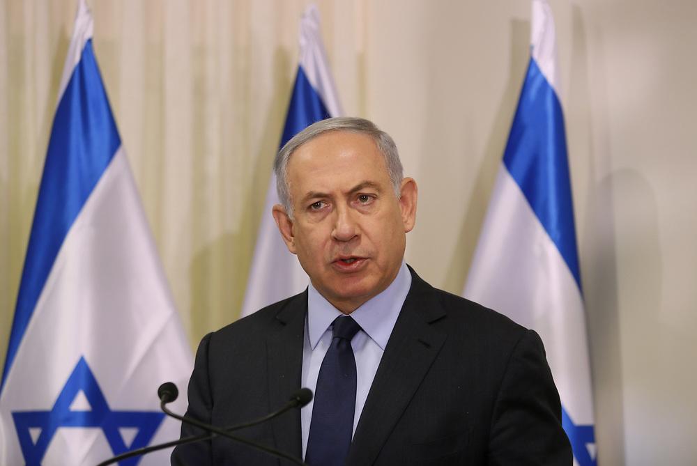 Israeli Prime Minister Benjamin Netanyahu, at the Knesset, Israel's parliament in Jerusalem, on May 25, 2016.