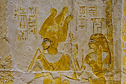 Images of Osiris and Nepthys from the tomb of Maya in Saqqara