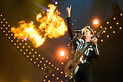 Muse performing at the iHeartRadio Music Festival at the MGM Grand Arena on Friday, September 20, 2013.