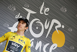July 20, 2018 - Valence, FRANCE - British Geraint Thomas of Team Sky pictured before the start of the 13th stage in the 105th edition of the Tour de France cycling race, from Bourg d'Oisans to Valence (169,5 km), France, Friday 20 July 2018. This year's Tour de France takes place from July 7th to July 29th. BELGA PHOTO YUZURU SUNADA - FRANCE OUT (Credit Image: © Yuzuru Sunada/Belga via ZUMA Press)