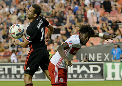August 5, 2017 - Washington, DC, USA - 20170805 - D.C. United midfielder MARCELO SARVAS (7) and Toronto FC forward TOSIANT RICKETTS (87) battle for the ball during a Toronto FC corner kick in the second half at RFK Stadium in Washington. (Credit Image: © Chuck Myers via ZUMA Wire)