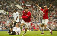Photo: Aidan Ellis.<br /> Manchester United v Charlton Athletic. The Barclays Premiership. 07/05/2006.<br /> United's Cristiano Ronaldo celebrates his goal and team second