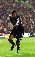 Photo: Paul Greenwood.<br />Wigan Athletic v Chelsea. The Barclays Premiership. 23/12/2006. Chelesa's Salomon Kalou celebrates his goal