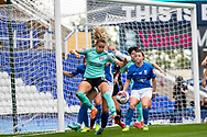 Brighton & Hove Albion forward  Kayleigh Green (15) kicks ball on during the FA Women's Super League match between Birmingham City Women and Brighton and Hove Albion Women at St Andrews, Birmingham United Kingdom on 12 September 2021.