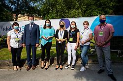 Mojca Novak, Branko Kidric, Simona Lipicer Kustec, Maja Pak, Petra Tasker Zumer and Igor Gajster during 1st Stage of 27th Tour of Slovenia 2021 cycling race between Ptuj and Rogaska Slatina (151,5 km), on June 9, 2021 in Slovenia. Photo by Vid Ponikvar / Sportida