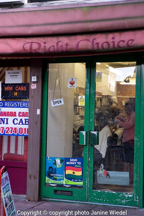 Small haidresser salon  in Streets of Brixton South London