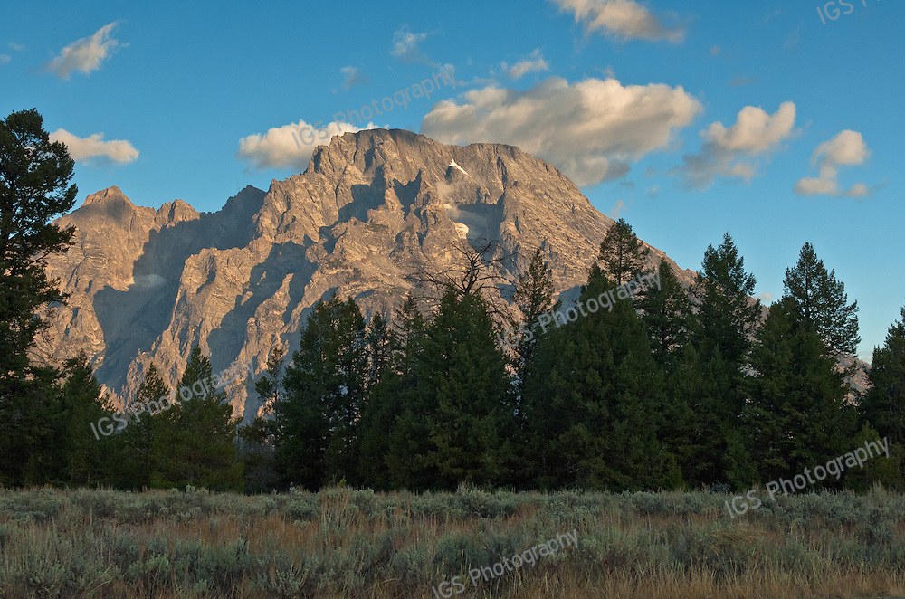 On a Clear day - early morning View of Mount Moran, Grand Teton National Park