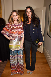 Left to right, sisters Rosie Fortescue and Lily Fortescue at the Rosie Fortescue Jewellery Launch, Brown's Hotel London England. 10 May 2017.<br /> Photo by Dominic O'Neill/SilverHub 0203 174 1069 sales@silverhubmedia.com