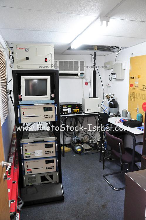 Israel, Carmel Mountain, Air Pollution monitoring station