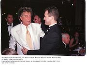 Rod Stewart & Paul Burrell The Princess Ball, Beverly Wilshire Hotel. Beverly Hills. 21 March 1998 Film 981180f31<br />Copyright Photograph by Dafydd Jones. 66 Stockwell Park Rd. London SW9 0DA<br />Tel. 0171 733 0108