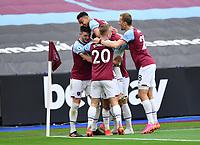 Football - 2020 / 2021 Premier League - Final Round - West ham United vs Southampton - London Stadium<br /> <br /> West Ham United's Pablo Fornals (hidden) celebrates scoring his side's first goal.<br /> <br /> COLORSPORT/ASHLEY WESTERN