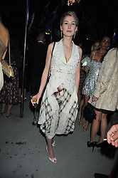ROSAMUND PIKE at the annual Serpentine Gallery Summer Party sponsored by Canvas TV  the new global arts TV network, held at the Serpentine Gallery, Kensington Gardens, London on 9th July 2009.