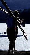 Barcelona Olympics 1992 - Lake Banyoles, SPAIN,  GV's Baoting area and round the lake,  Photo: Peter Spurrier/Intersport Images.  Mob +44 7973 819 551/email images@intersport-images.com.       {Mandatory Credit: © Peter Spurrier/Intersport Images].
