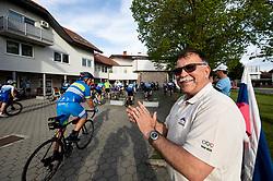 Marjan Kardinar, mayor of Dobrovnik during 4th Stage from Prevalje to Dobrovnik, 190 km at Day 4 of DOS 2021 Charity event - Dobrodelno okrog Slovenije, on April 30, 2021, in Slovenia. Photo by Vid Ponikvar / Sportida
