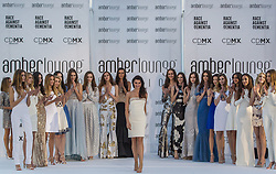 May 25, 2018 - Montecarlo, Monaco - Models present a creation of Alessandra Vicedomini at the 15th Amber Lounge Charity Fashion Show 2018 in Monte Carlo, Monaco. (Credit Image: © Robert Szaniszlo/NurPhoto via ZUMA Press)