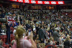 Supporters for Charlotte Dujardin<br /> Longines FEI World Cup™ Dressage Final I<br /> Las Vegas 2015<br />  © Hippo Foto - Dirk Caremans<br /> 17/04/15