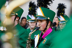 © Licensed to London News Pictures. 30/12/2019. London, UK. Performers from Glenbrook North High School Spartan Marching Band perform at the preview of the London New Year's Day Parade inCovent Garden Piazza.<br /> The London New Years Day Parade, in its 32nd year will take place on 1 January 2020 and will feature more than 10,000 performers from across the world. Photo credit: Dinendra Haria/LNP