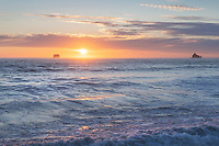Sunset seen from Rialto Beach Olympic National Park Washington