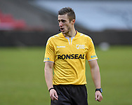 Referee Chris Kendall gives instructions during the game