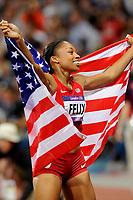 LONDON OLYMPIC GAMES 2012 - OLYMPIC STADIUM , LONDON (ENG) - 08/08/2012 - PHOTO : POOL / KMSP / DPPI<br /> ATHLETICS - WOMEN'S 400 M - GOLD MEDAL - ALLYSON FELX (USA)