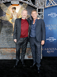 Jamie Harris and Jared Harris at the Los Angeles premiere of Amazon's 'Carnival Row' held at the TCL Chinese Theatre in Hollywood, USA on August 21, 2019.