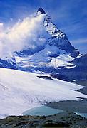 Cloud formation passes the Matterhorn, Switzerland.