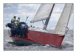 Sailing - The 2007 Bell Lawrie Scottish Series hosted by the Clyde Cruising Club, Tarbert, Loch Fyne..The final days racing had cold steady Northerly breeze to decide the overall placings...IRL789 Rosie Class 2.