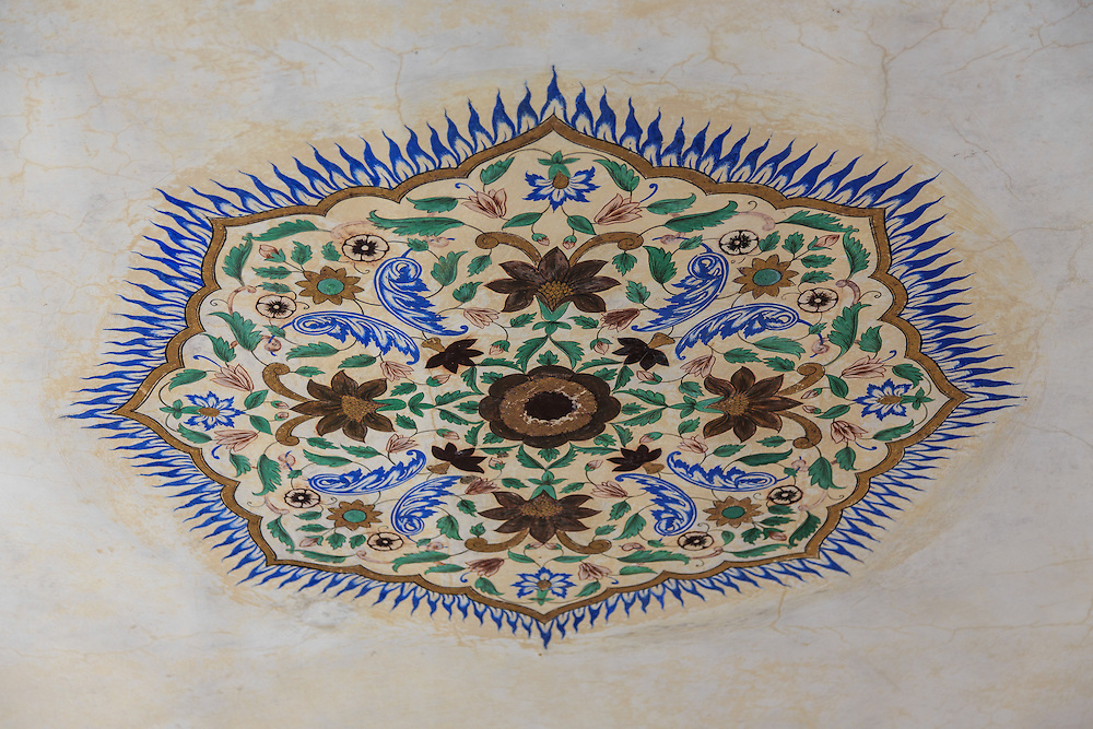 Decoration in Amer Fort in Jaipur, India.