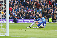 Football - 2017 / 2018 Premier League - Brighton and Hove Albion vs. Leicester City<br /> <br /> Glenn Murray of Brighton can't believe he missed the best chance of the first half at The Amex Stadium Brighton <br /> <br /> COLORSPORT/SHAUN BOGGUST