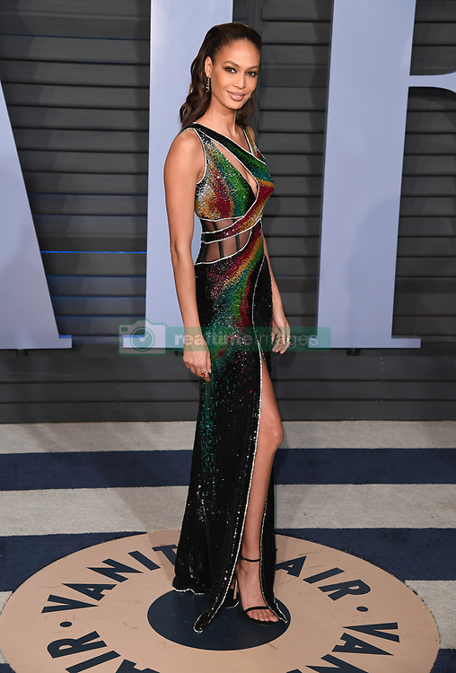 Joan Smalls arriving at the Vanity Fair Oscar Party held in Beverly Hills, Los Angeles, USA.