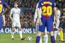 March 14, 2018 - Barcelona, Catalonia, Spain - Chelsea FC defender Marcos Alonso (3) during UEFA Champions League match between FC Barcelona and Chelsea FC at Camp Nou Stadium corresponding of Round of 16, Second leg on March 14, 2018 in Barcelona, Spain. (Credit Image: © Urbanandsport/NurPhoto via ZUMA Press)