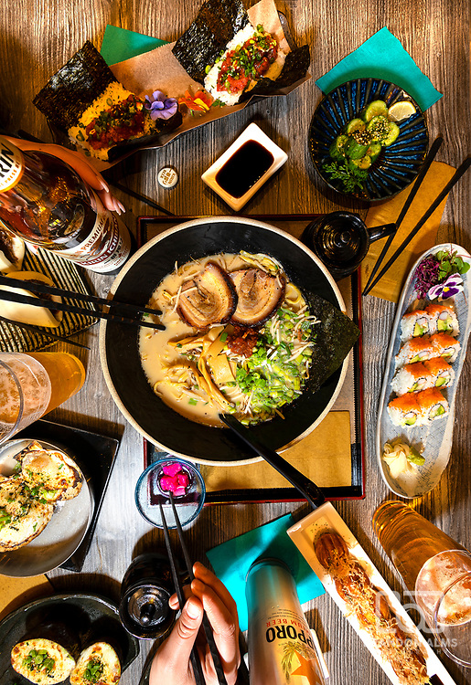 Ramen food photography by Brandon Alms Photography.