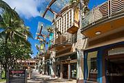 Waikiki Beach Walk, Shopping Center, Waikiki, Honolulu, Oahu, Hawaii