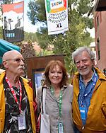 Jim Bedford, Baerbel Hacke and Philip Kaufman at the 40th Telluride Film Festival.