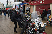 Bikers in Hastings , East Sussex for the May Bank Holiday. 2 May 2016