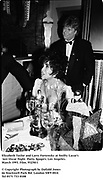 Elizabeth taylor and Larry Fortensky at Swifty Lazar's last Oscar Night  Party. Spago's. Los Angeles. March 1993. Film. 93250/1<br />