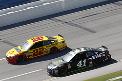 April 29, 2018 - Talladega, Alabama, United States of America - Kurt Busch (41)  battles side by side down the front stretch for position during the GEICO 500 at Talladega Superspeedway in Talladega, Alabama. (Credit Image: © Justin R. Noe Asp Inc/ASP via ZUMA Wire)